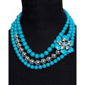 Perlen-Halskette Türkis
