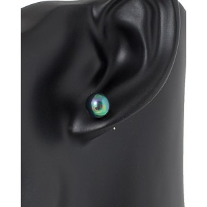 Ohrstecker Perlen-Metallic 8mm, 4 Farben zur Auswahl
