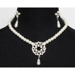 Perlen Schmuckset Brautschmuck Set Perlen