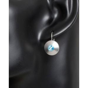 Ohrhänger Kristall Blau