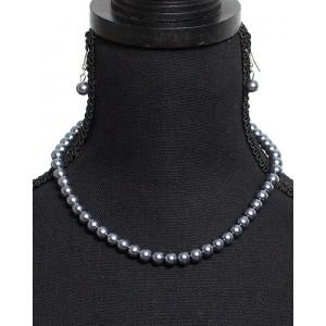 Perlen-Schmuckset Metallic