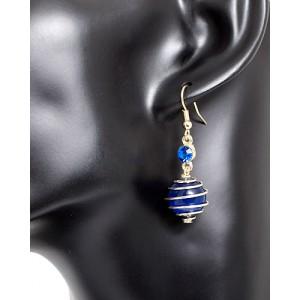 Ohrhänger Glasperle Blau