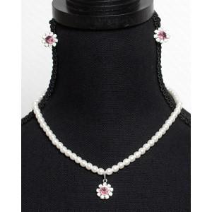 Perlen Schmuckset Kristall Rosa