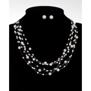 Perlencollier Schmuckset