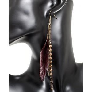 Ohrhänger mit Federn