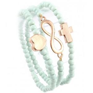 3-teilig elastisches Armband mint