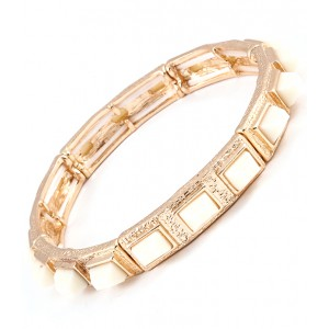 Armband elastisch ivory